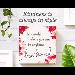 HALLMARK Be Kind Wood Quote Sign 7.75x7.75